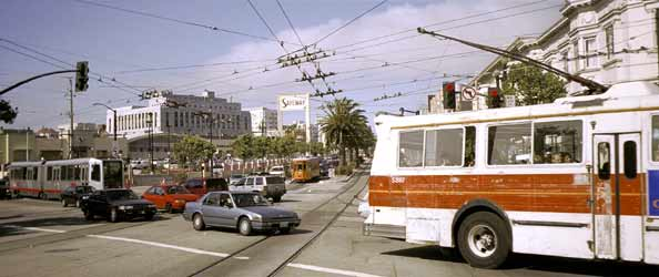 Electric Public Transport In San Francisco.